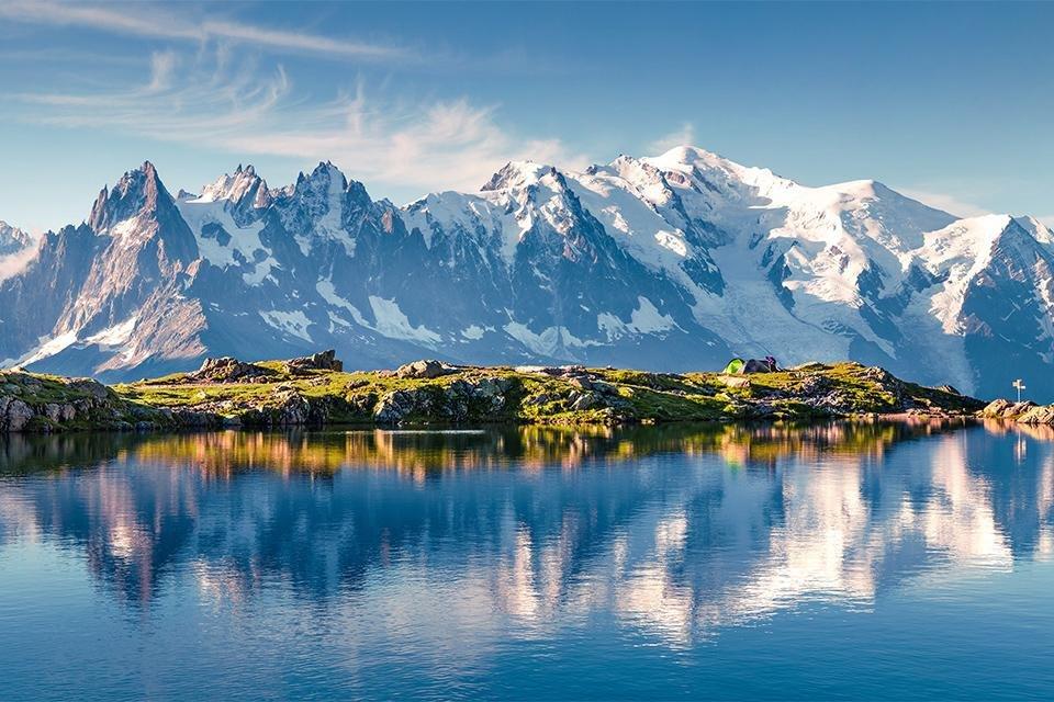Treinreis dwars door de Alpen